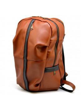 Рыжий кожаный рюкзак большого размера TARWA GB-7340-3md