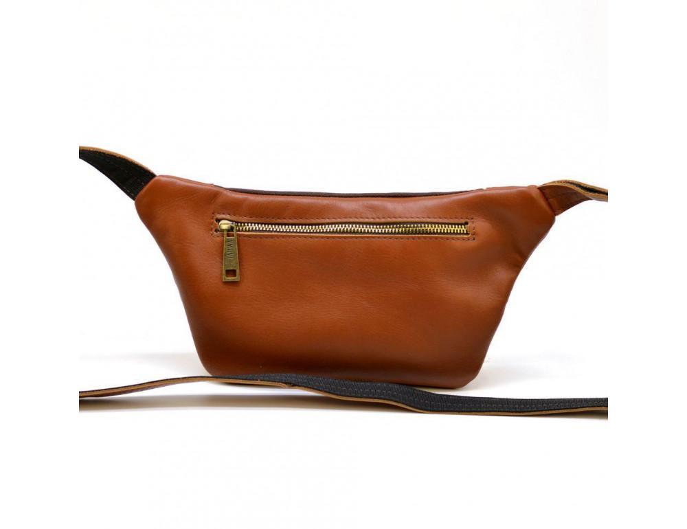 Коричневая напоясная сумка кожаная GB-8179-3md TARWA - Фото № 2