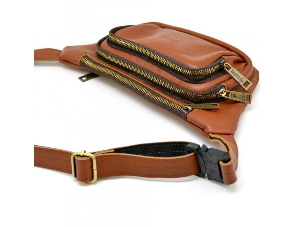 Коричневая напоясная сумка кожаная GB-8179-3md TARWA - Фото № 4