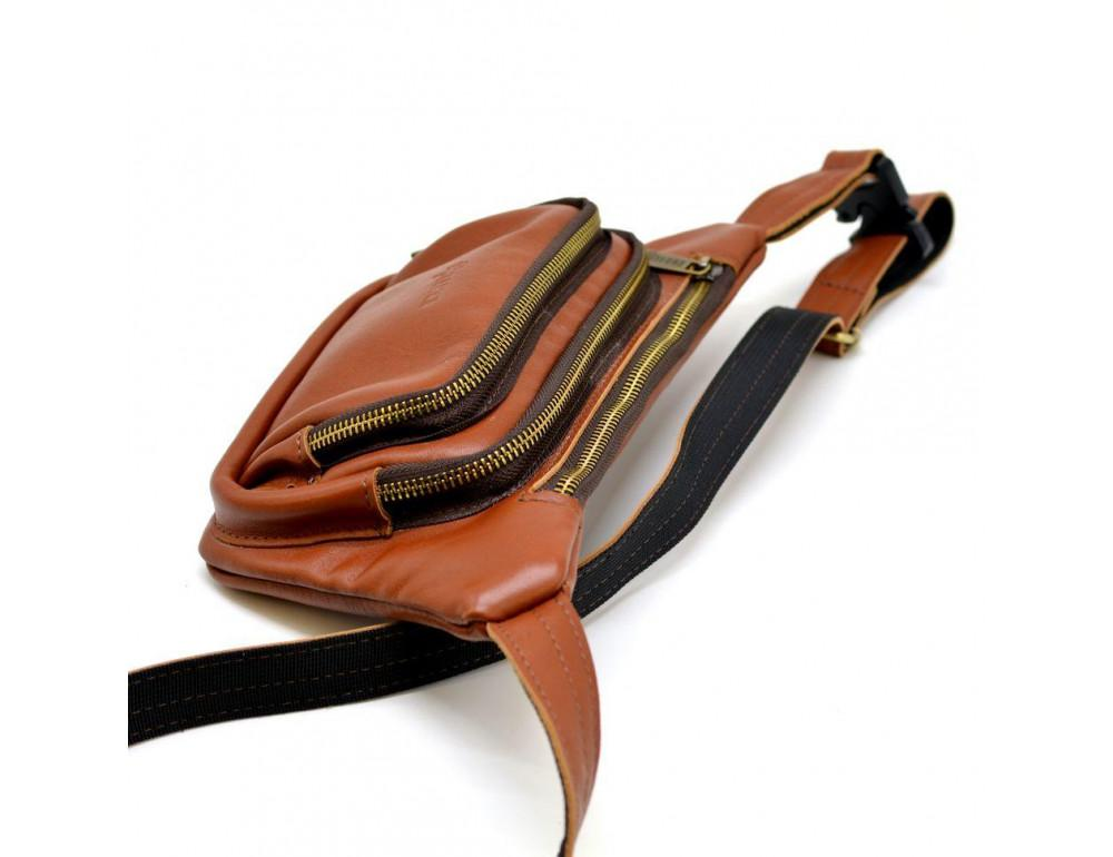 Коричневая напоясная сумка кожаная GB-8179-3md TARWA - Фото № 5