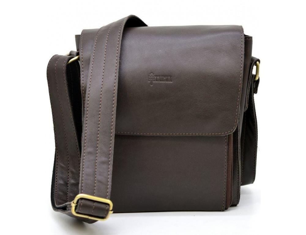 Тёмно-коричневая мужская сумка через плечо TARWA GC-3027-4lx - Фото № 2