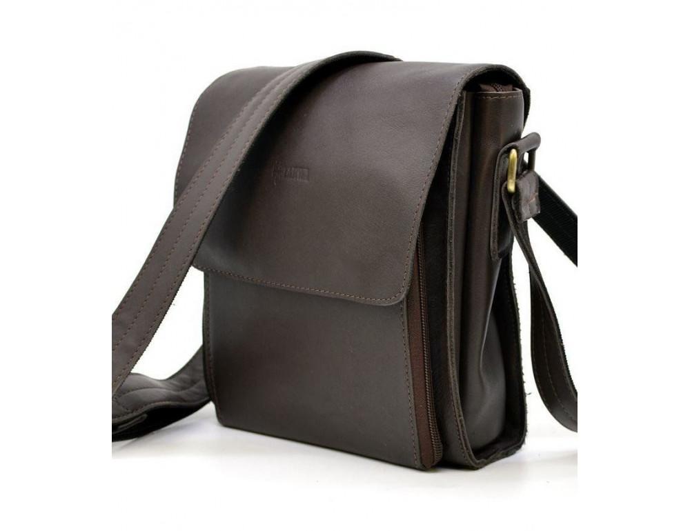 Тёмно-коричневая мужская сумка через плечо TARWA GC-3027-4lx - Фото № 1