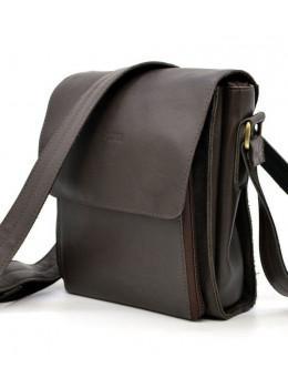 Тёмно-коричневая мужская сумка через плечо TARWA GC-3027-4lx
