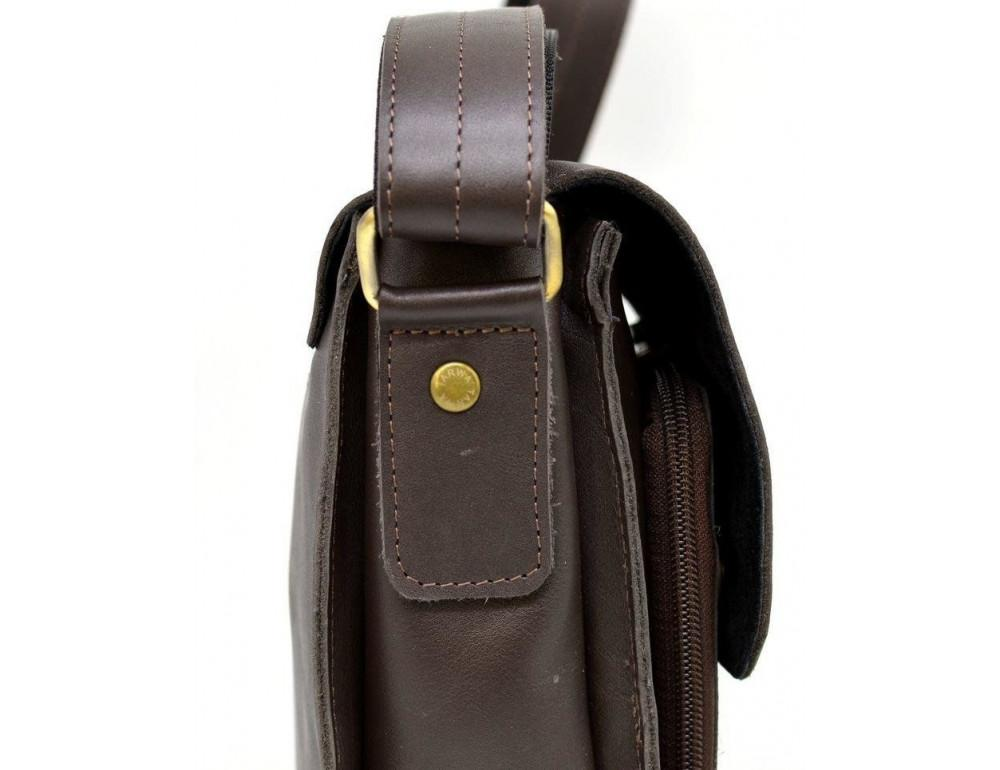 Тёмно-коричневая мужская сумка через плечо TARWA GC-3027-4lx - Фото № 4