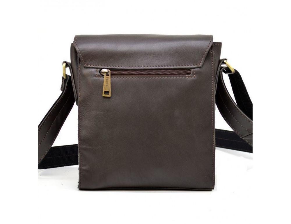 Тёмно-коричневая мужская сумка через плечо TARWA GC-3027-4lx - Фото № 5