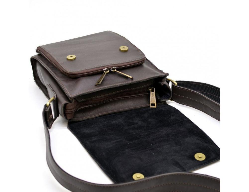 Тёмно-коричневая мужская сумка через плечо TARWA GC-3027-4lx - Фото № 6