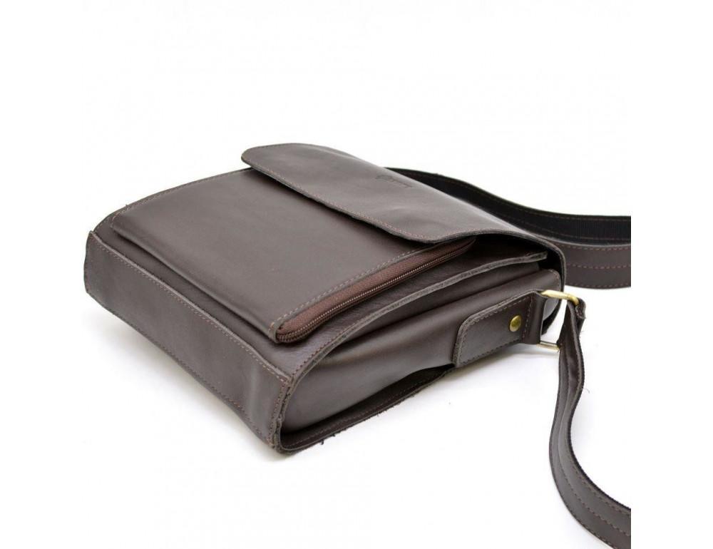 Тёмно-коричневая мужская сумка через плечо TARWA GC-3027-4lx - Фото № 7