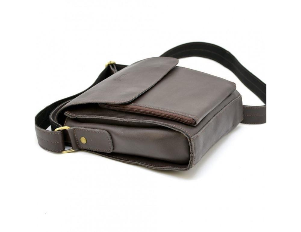 Тёмно-коричневая мужская сумка через плечо TARWA GC-3027-4lx - Фото № 8