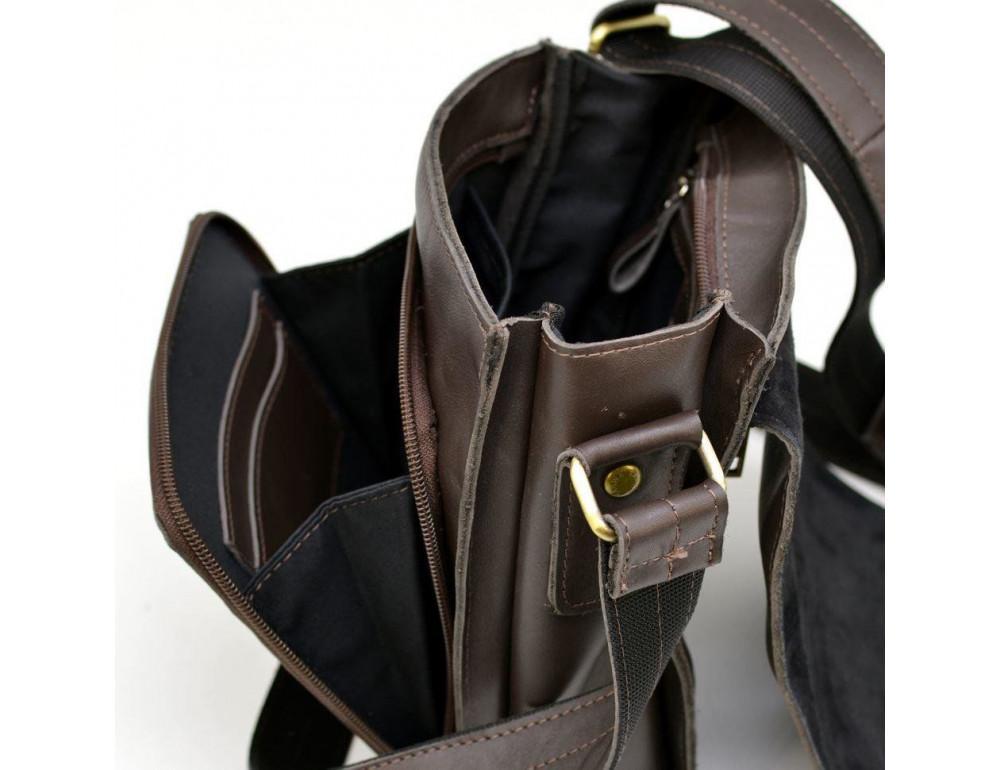 Тёмно-коричневая мужская сумка через плечо TARWA GC-3027-4lx - Фото № 9