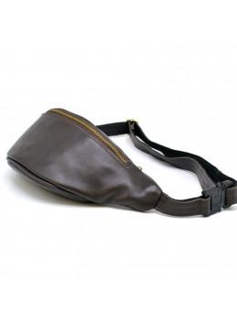 Коричневая кожаная сумка на пояс TARWA GC-3035-3md