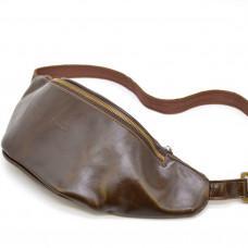 Коричневая мужская сумка на пояс TARWA GC-3036-4lx