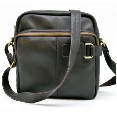 Коричневая кожаная сумка через плечо TARWA GC-6012-3md