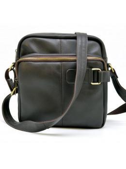 Коричнева шкіряна сумка через плече TARWA GC-6012-3md