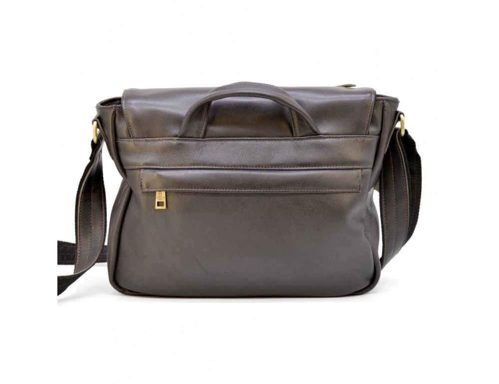 Тёмно-коричневая кожаная сумка через плечо TARWA GC-6046-2md - Фото № 3