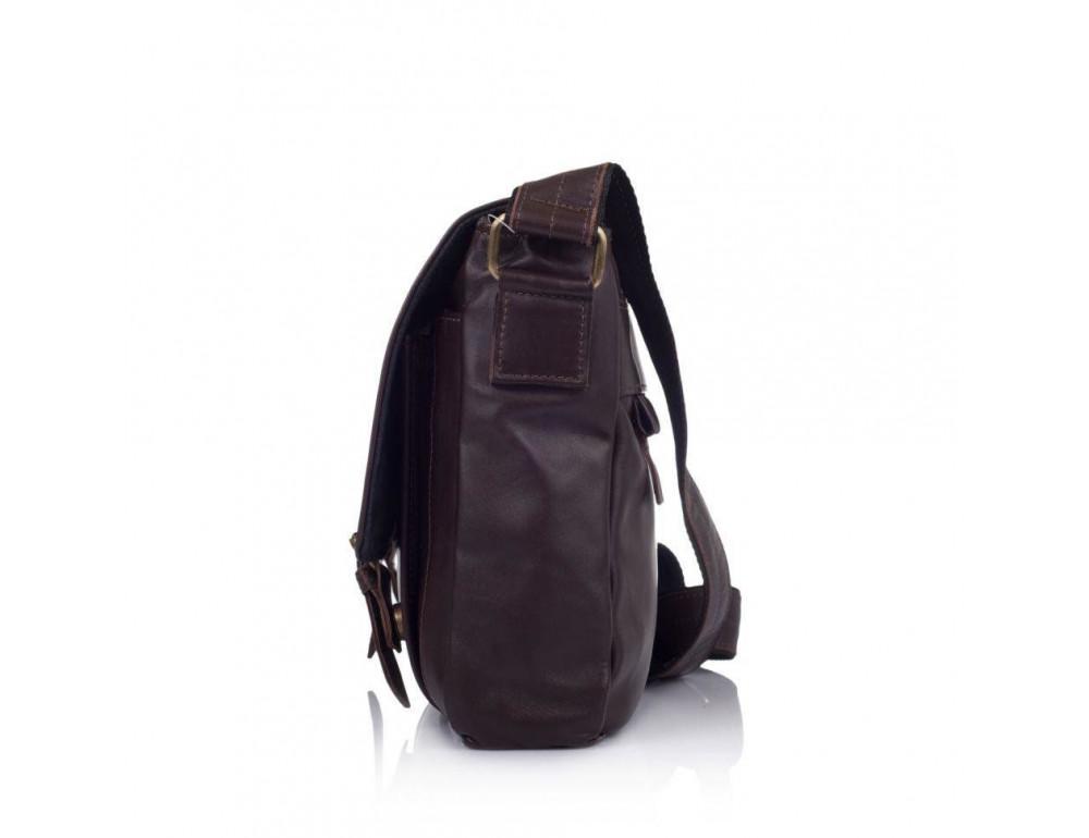 Тёмно-коричневая кожаная сумка через плечо TARWA GC-6046-2md - Фото № 4