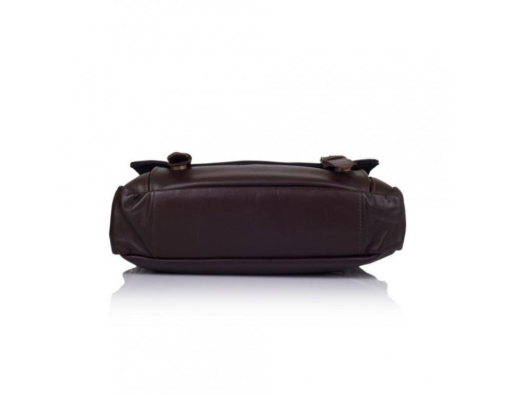 Тёмно-коричневая кожаная сумка через плечо TARWA GC-6046-2md - Фото № 5