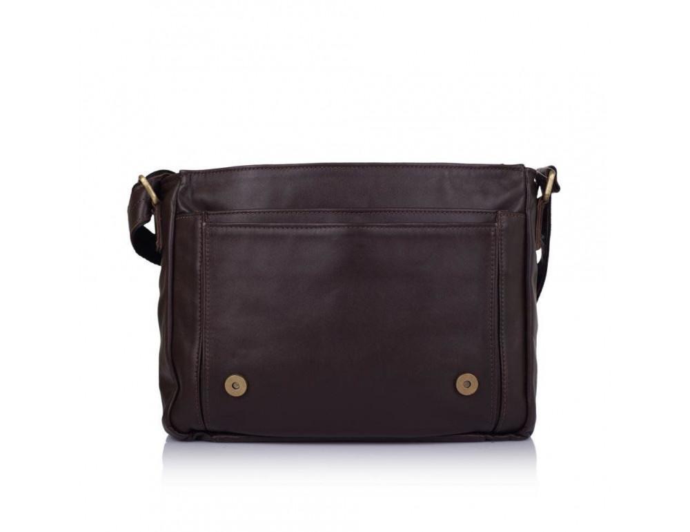 Тёмно-коричневая кожаная сумка через плечо TARWA GC-6046-2md - Фото № 6