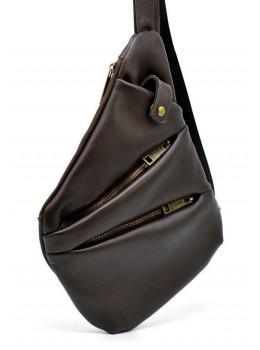 Коричнева сумка на плече зі шкіри TARWA GC-6402-3md