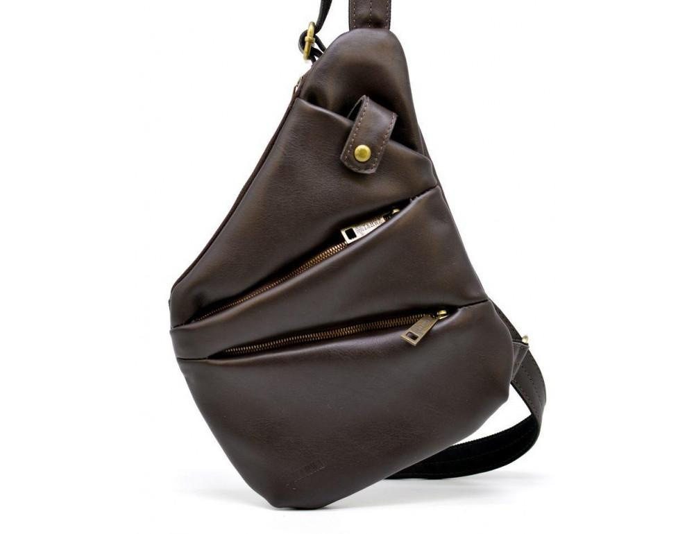 Коричневая сумка на плечо из кожи TARWA GC-6402-3md - Фото № 5