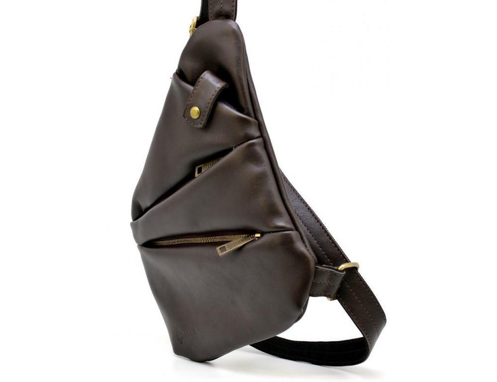Коричневая сумка на плечо из кожи TARWA GC-6402-3md - Фото № 2