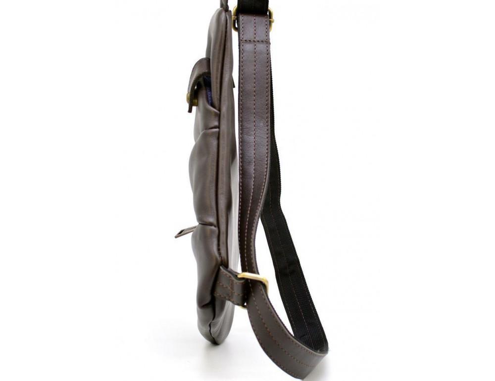 Коричневая сумка на плечо из кожи TARWA GC-6402-3md - Фото № 3