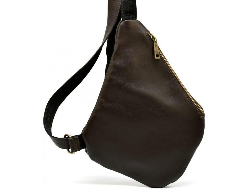 Коричневая сумка на плечо из кожи TARWA GC-6402-3md - Фото № 4