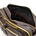 Коричневая кожаная сумка-трансформер с двумя отделениями TARWA GC-7014-3md - Фото № 109