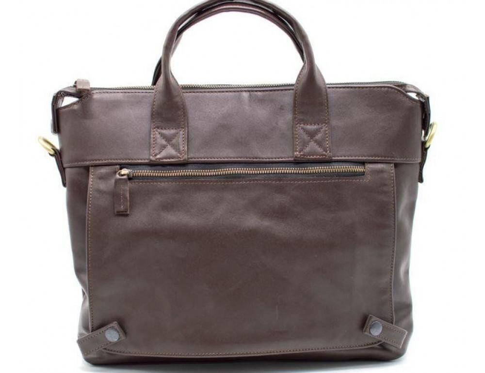 Коричневая кожаная сумка под документы TARWA  GC-7120-2md - Фото № 1
