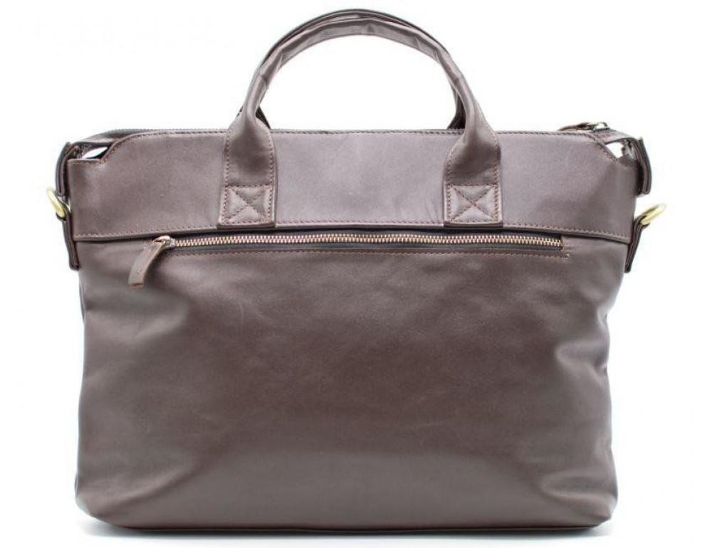 Коричневая кожаная сумка под документы TARWA  GC-7120-2md - Фото № 3