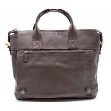 Коричневая кожаная сумка под документы TARWA  GC-7120-2md