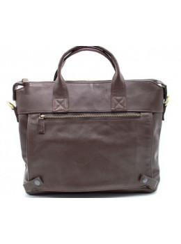 Коричнева шкіряна сумка під документи TARWA GC-7120-2md