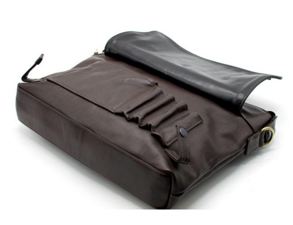 Коричневая кожаная сумка под документы TARWA  GC-7120-2md - Фото № 4