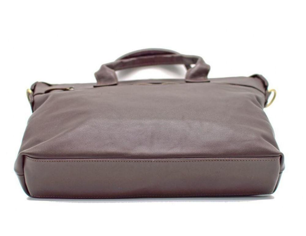 Коричневая кожаная сумка под документы TARWA  GC-7120-2md - Фото № 5