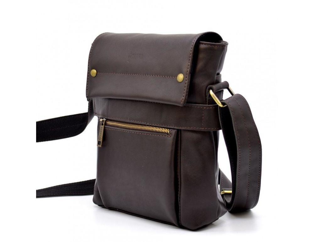 Коричневая сумка через плечо для мужчин TARWA GC-7121-3md - Фото № 2
