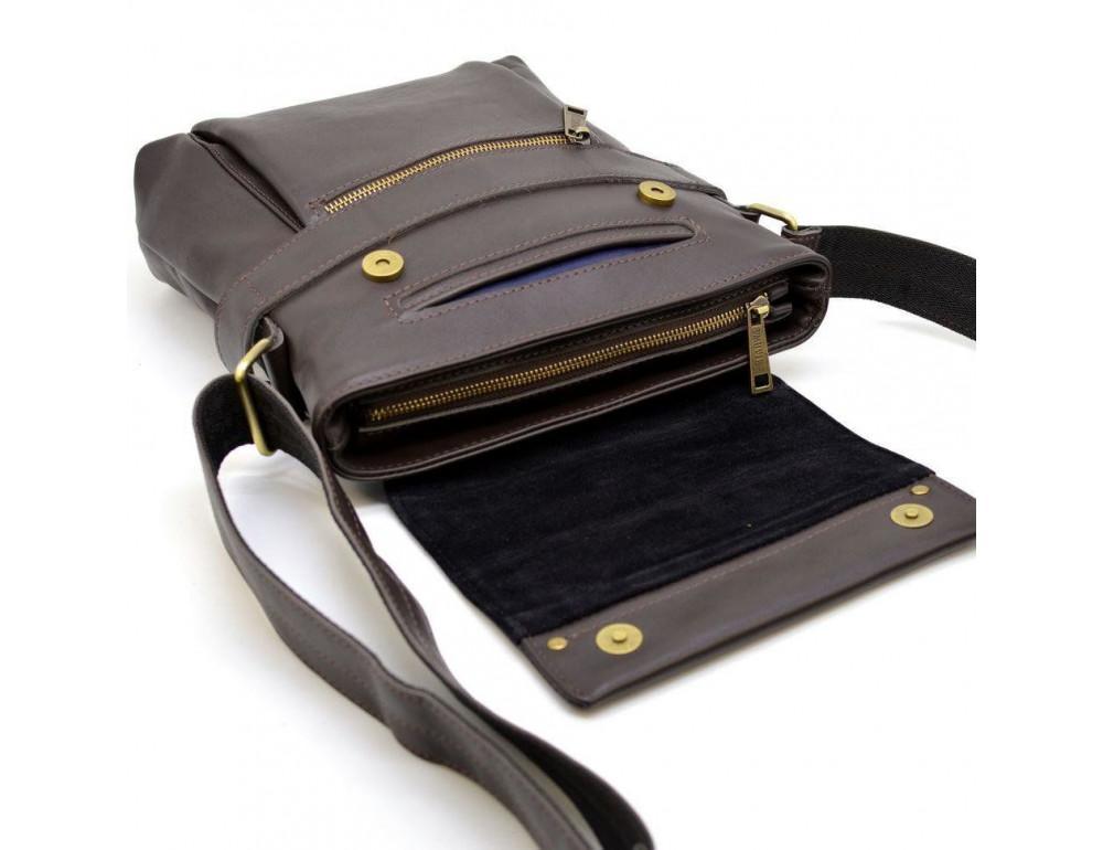 Коричневая сумка через плечо для мужчин TARWA GC-7121-3md - Фото № 3