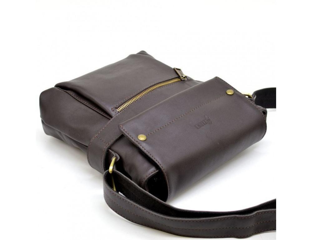 Коричневая сумка через плечо для мужчин TARWA GC-7121-3md - Фото № 7
