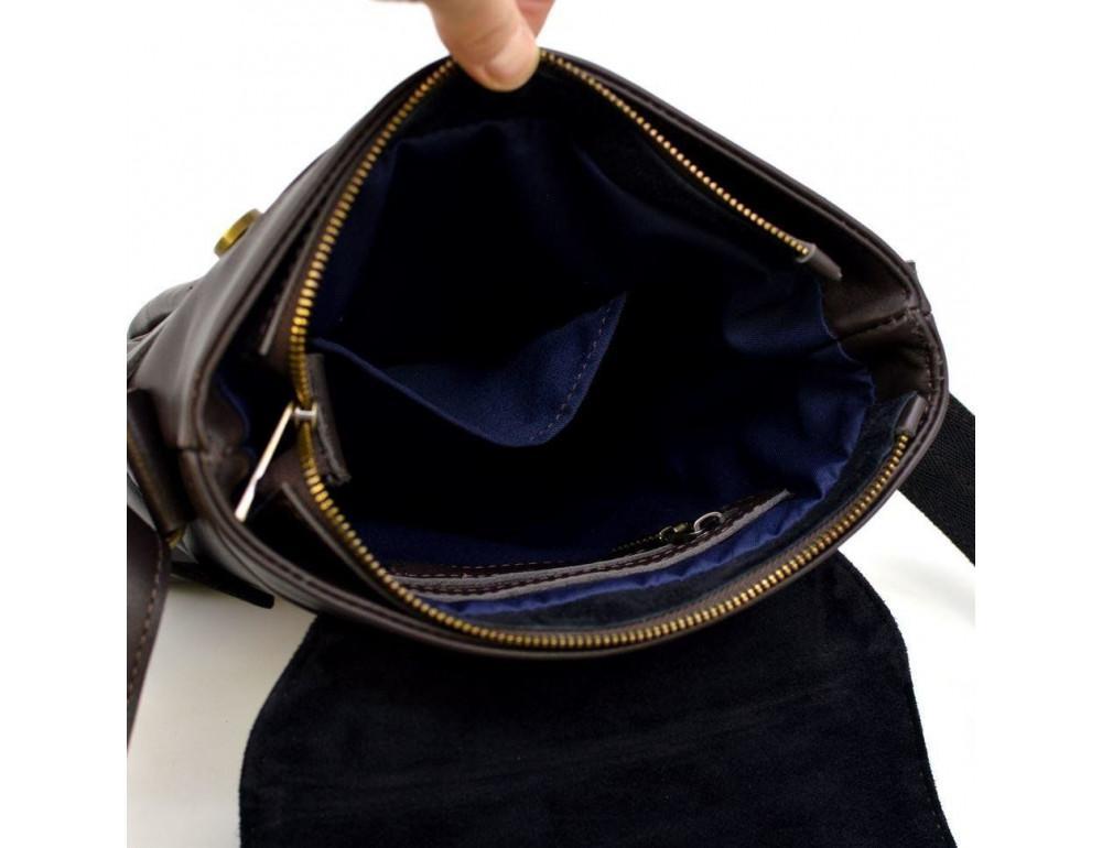 Коричневая сумка через плечо для мужчин TARWA GC-7121-3md - Фото № 8