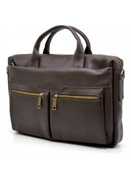 Коричневая кожаная сумка для ноутбука TARWA GC-7122-3md