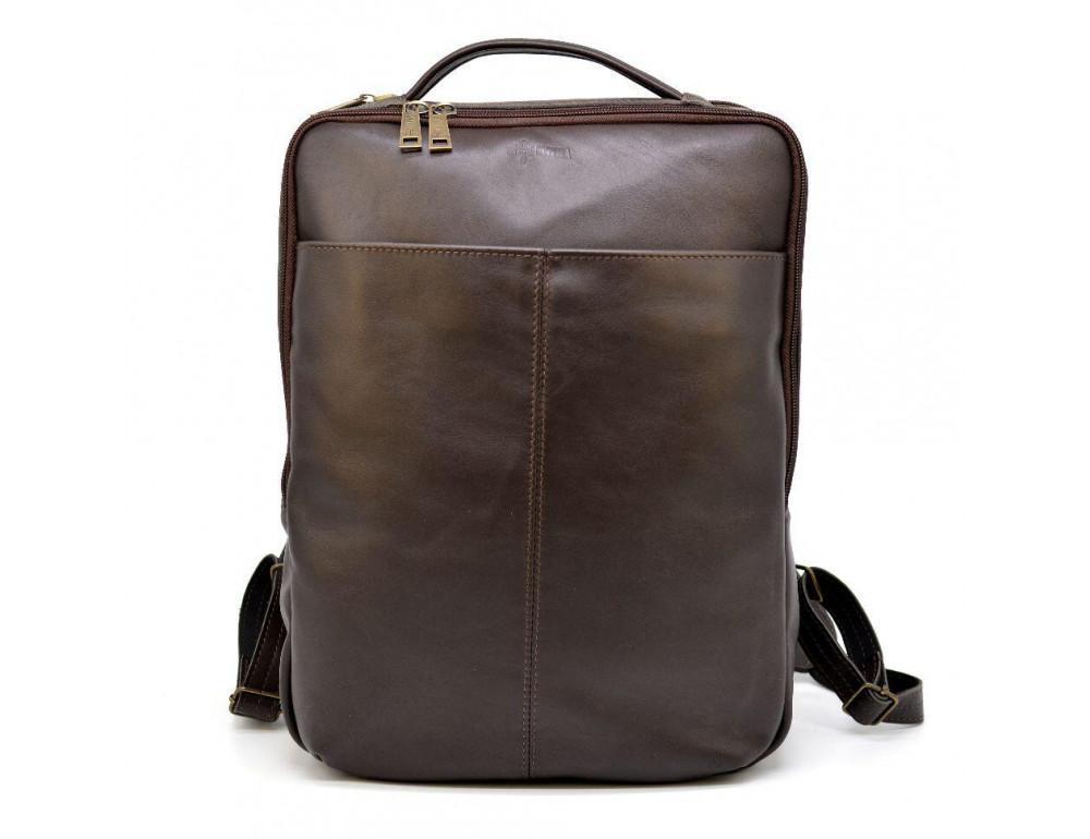 Коричневый кожаный рюкзак для города Tarwa gc-7280-3md - Фото № 3