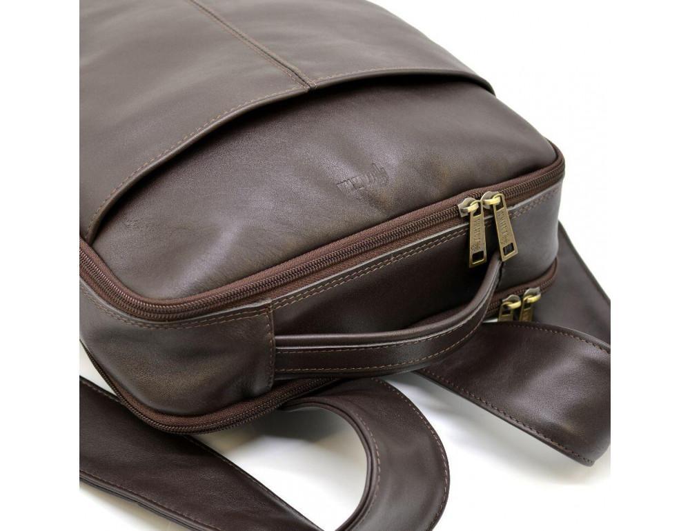 Коричневый кожаный рюкзак для города Tarwa gc-7280-3md - Фото № 6
