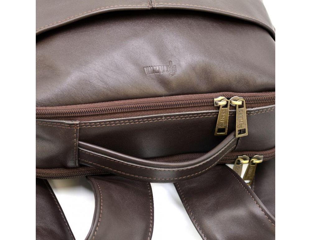 Коричневый кожаный рюкзак для города Tarwa gc-7280-3md - Фото № 7