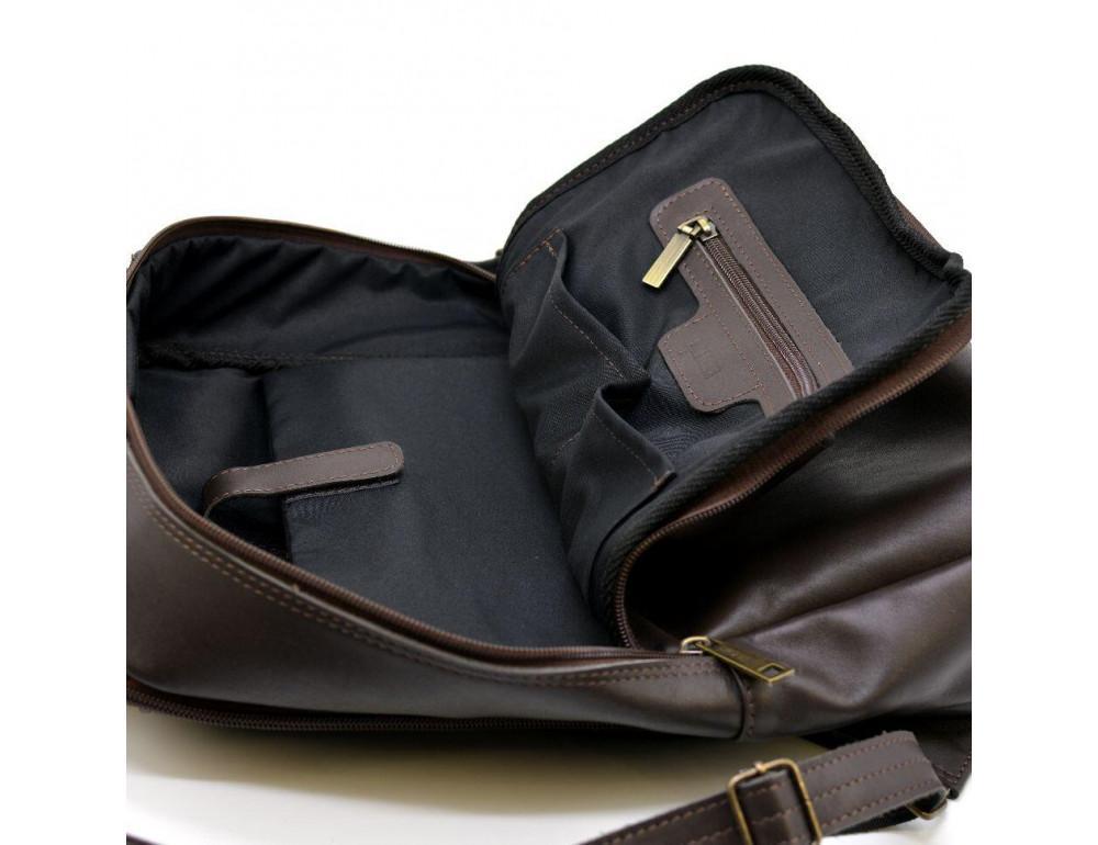 Коричневый кожаный рюкзак для города Tarwa gc-7280-3md - Фото № 9