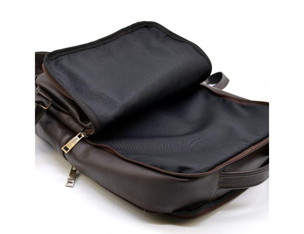 Коричневый кожаный рюкзак для города Tarwa gc-7280-3md - Фото № 10