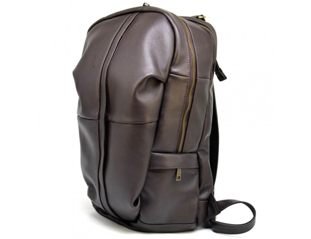 Коричневый кожаный рюкзак TARWA GC-7340-3md - Фото № 1
