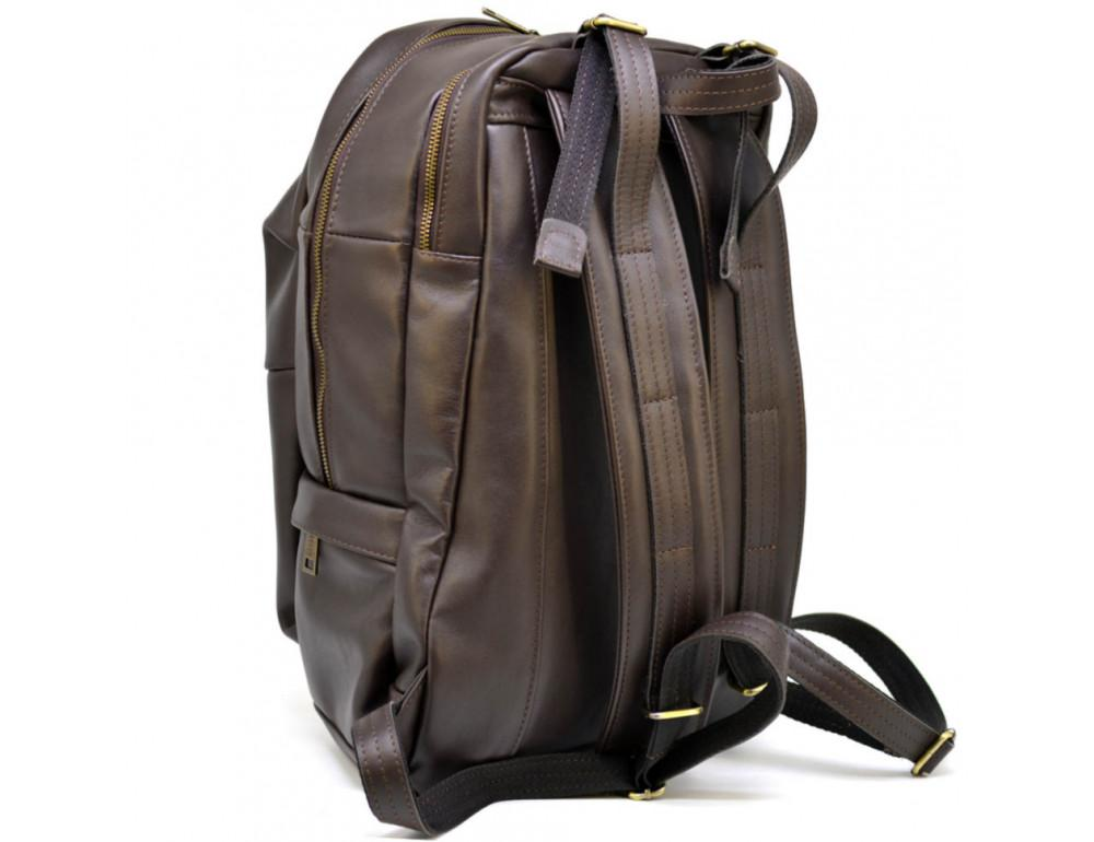 Коричневый кожаный рюкзак TARWA GC-7340-3md - Фото № 4