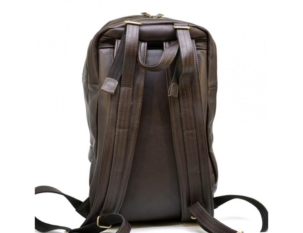 Коричневый кожаный рюкзак TARWA GC-7340-3md - Фото № 6