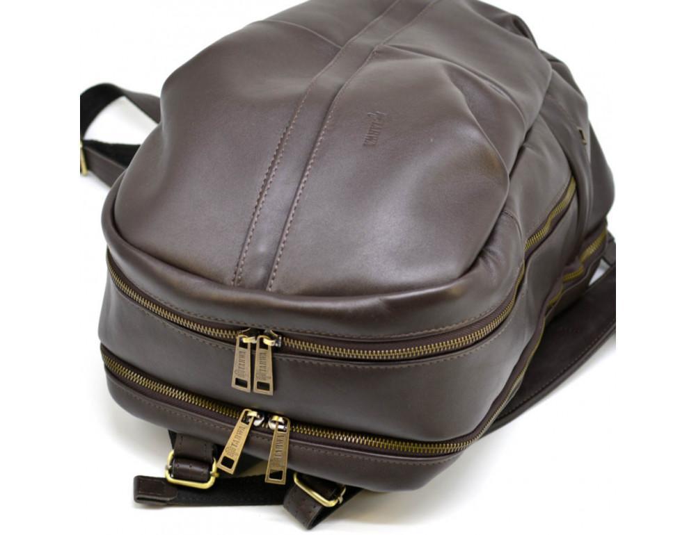 Коричневый кожаный рюкзак TARWA GC-7340-3md - Фото № 7