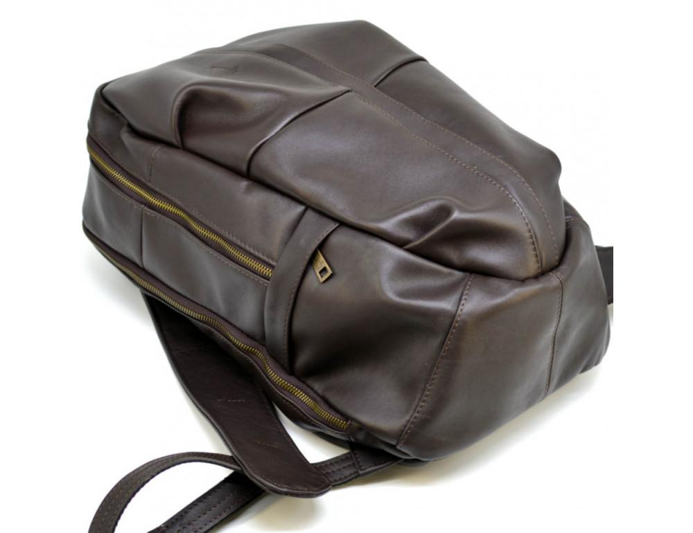 Коричневый кожаный рюкзак TARWA GC-7340-3md - Фото № 8