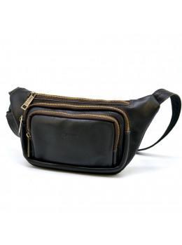Темно-коричнева напоясний сумка шкіряна TARWA GC-8179-3md