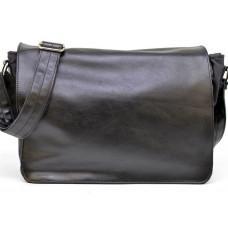 Чёрная вместительная сумка через плечо TARWA GG-1047-3md